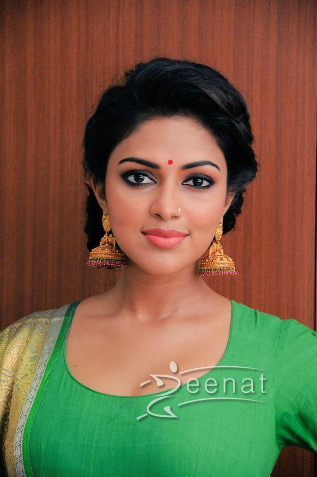 Amala Paul In Green Embroidered Anarkali Suit Zeenat Style