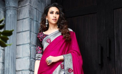 Karisma Kapoor in Ethnic Indian Saree