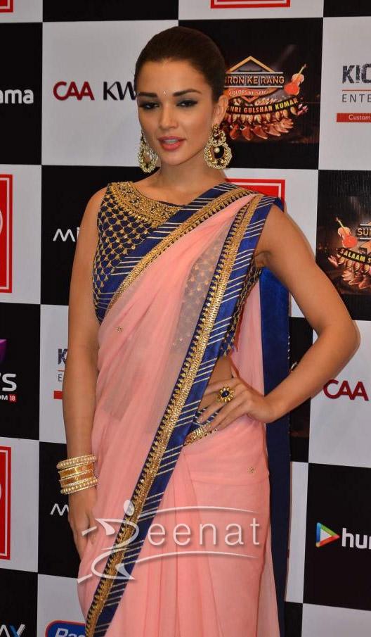 Amy Jackson In Saree at Suron k Rang 2