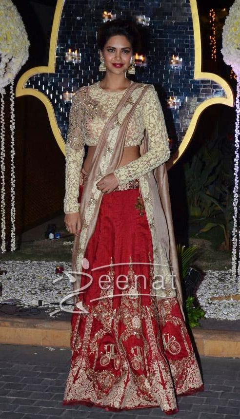 Esha Gupta In Ridhi Mehra Lehenga Choli