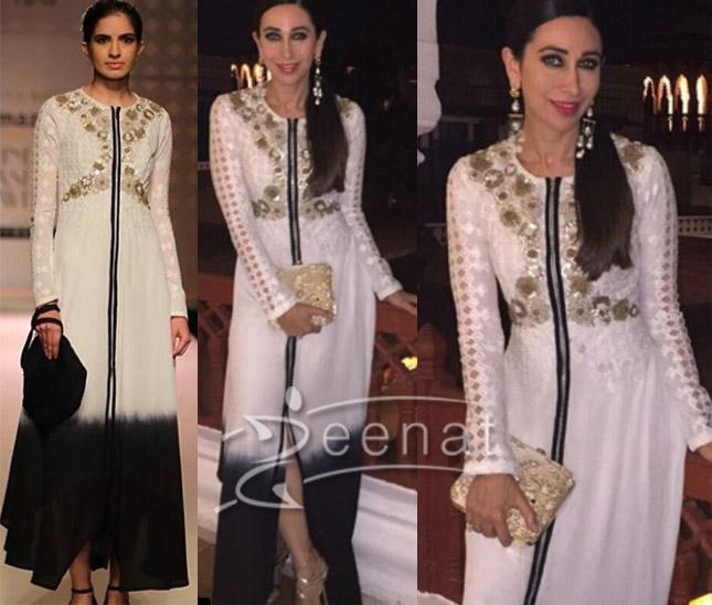 Karisma Kapoor in Kavita Bhartia White Dress 1