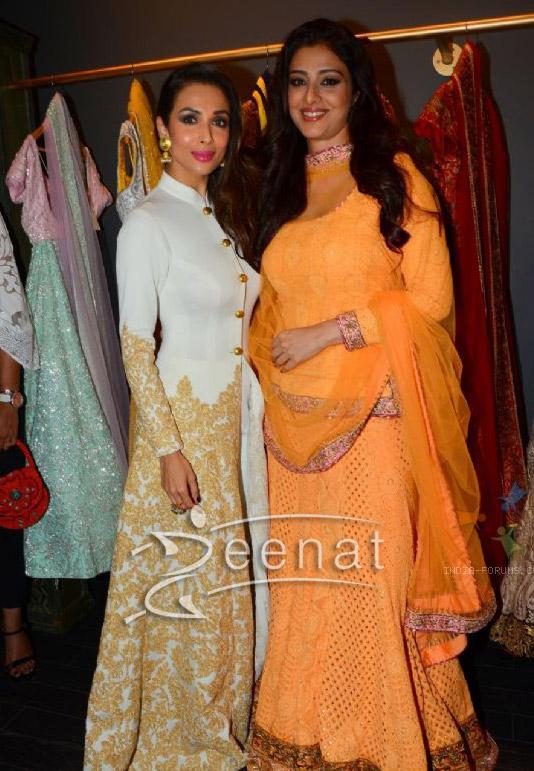 Tabu and Malaika Arora Khan in Mayyur Girotra