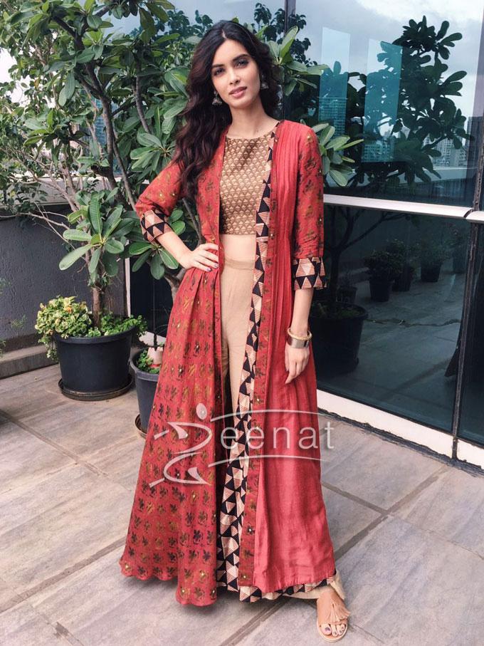 Diana Penty In Anushree desi ensemble for Happy Bhaag Jaayegi