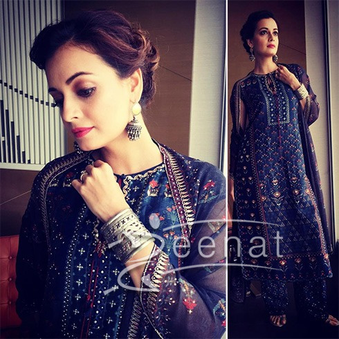 Dia Mirza In Anita Dongre Salwar Kameez Epic Love Collection