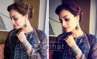 Dia Mirza In Anita Dongre Salwar Kameez Epic Love Collection