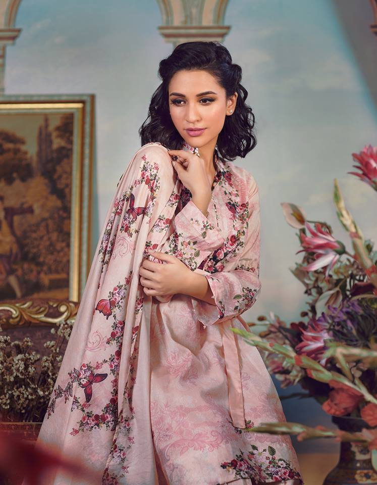 Agha Noor Printed Collection 2016 Zeenat Style