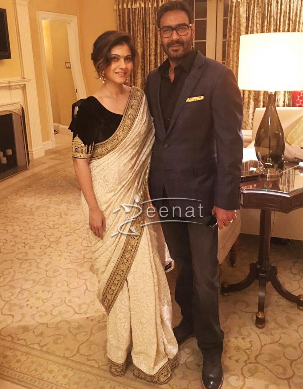 Kajol In Sabyasachi Saree for Shivaay Promotions