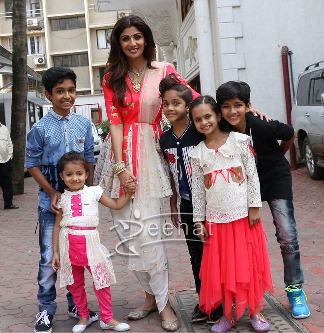 Shilpa Shetty In Masaba Gupta Tulip Salwar and Top