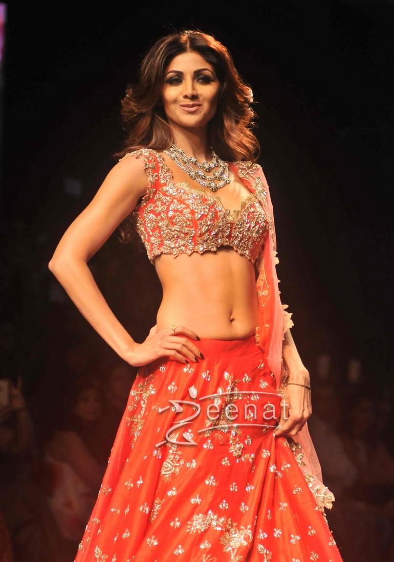Shilpa Shetty In Anushree Reddy Lehenga Choli