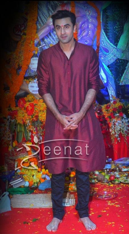 Ranbir Kapoor in Kurta Salwar for Durga Pooja