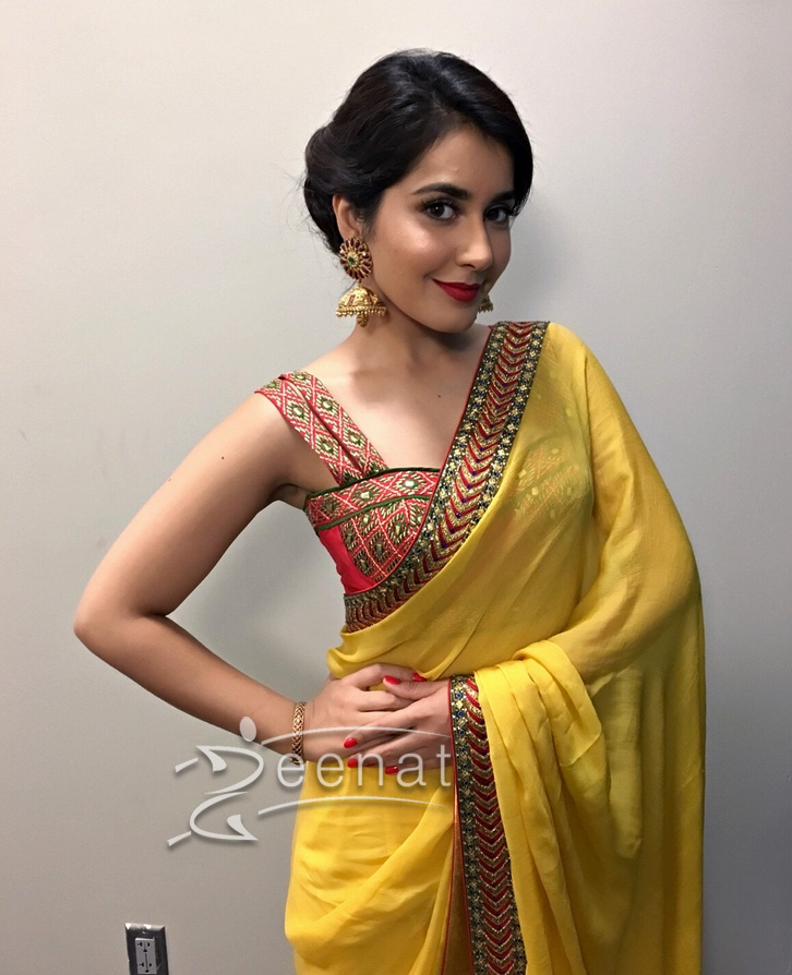 Rashi Khanna In Yellow Saree
