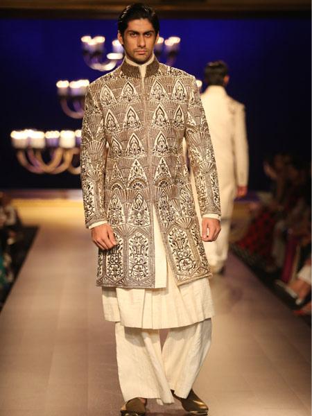 palazzo pants with sherwani