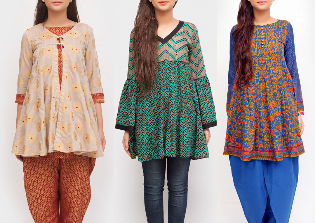 Latest Angrakha Trend Small Frocks
