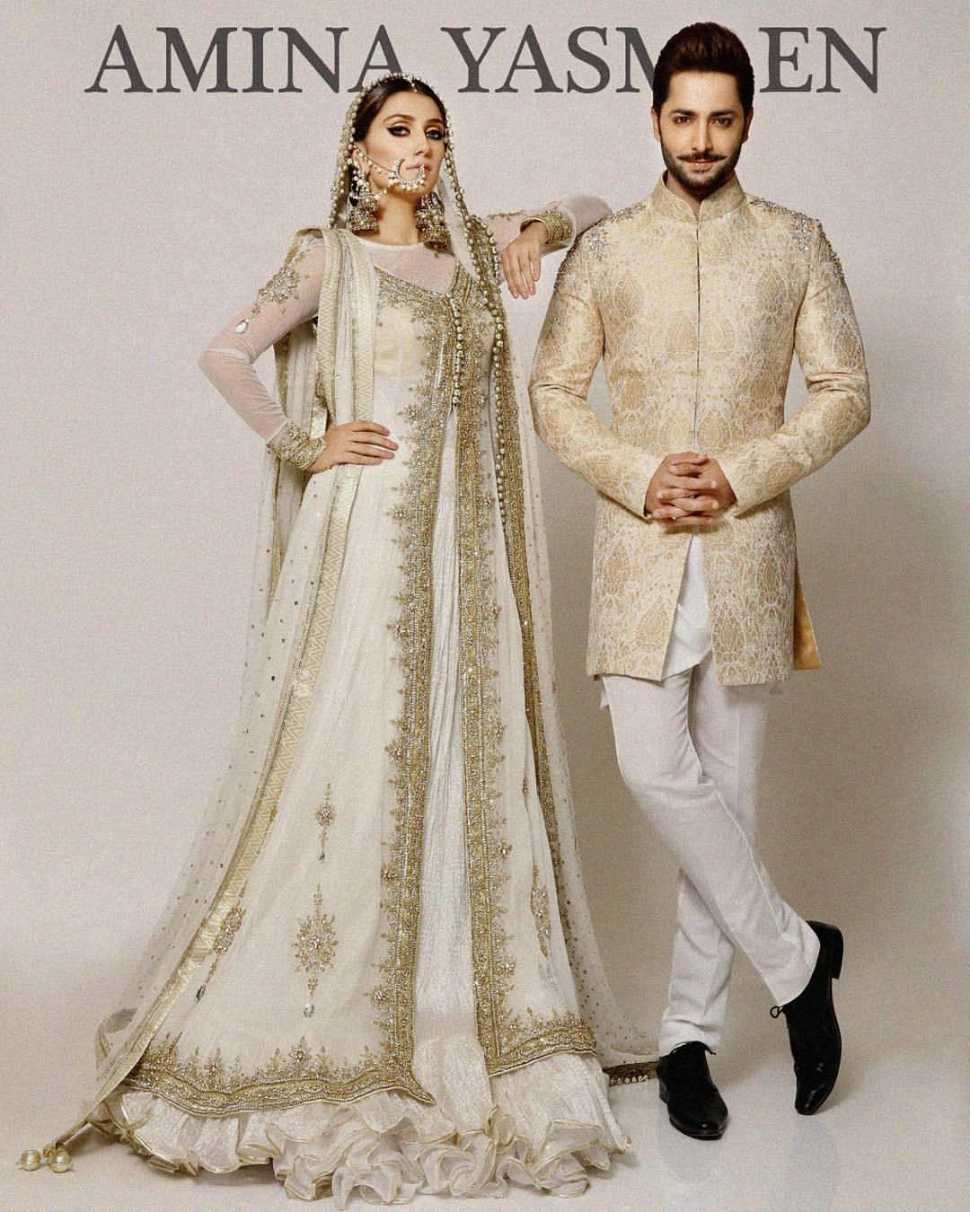 Ayeza Khan and Danish Taimoor Poses for Amina Yasmeen