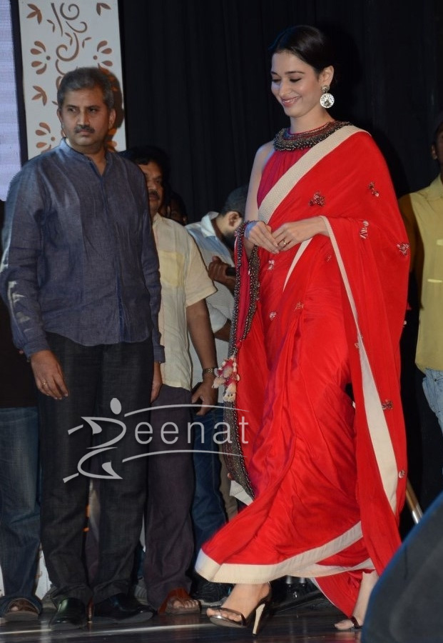 Tamannah Bhatia in Red Silk Saree