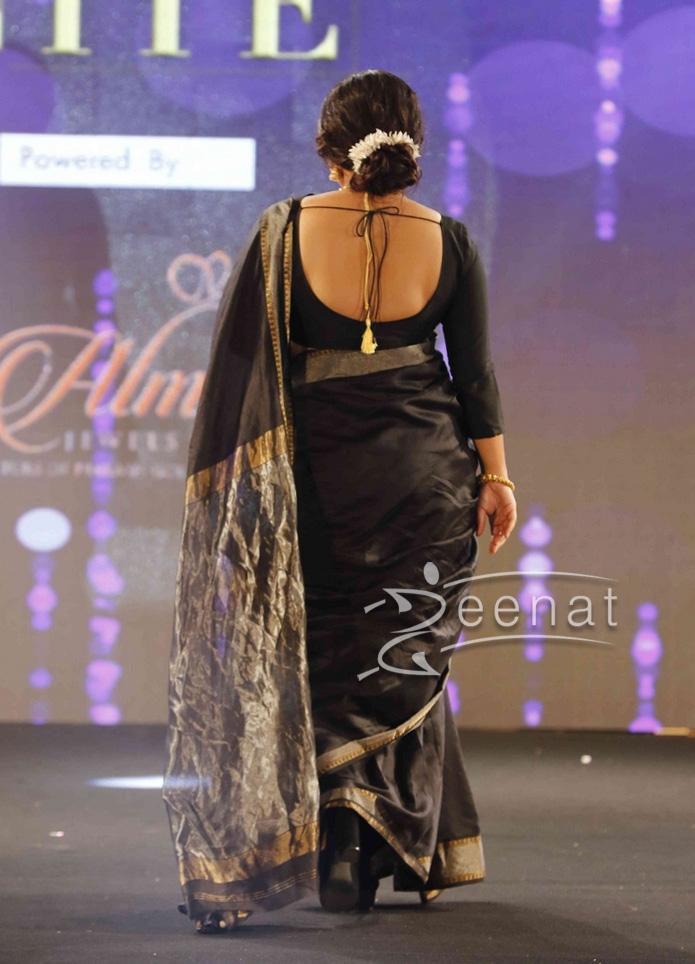 Vidya Balan Black Saree at GFJ Fashion Nite