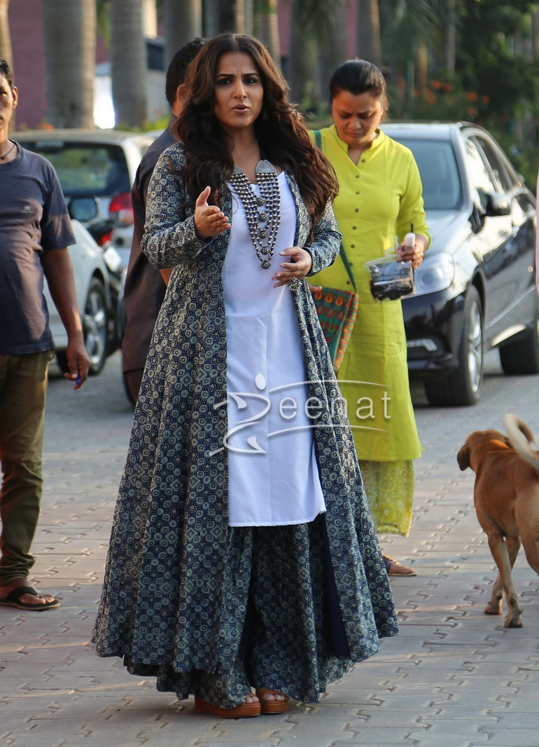 Vidya Balan In Zoraya Dress For Kahaani 2 Promotions