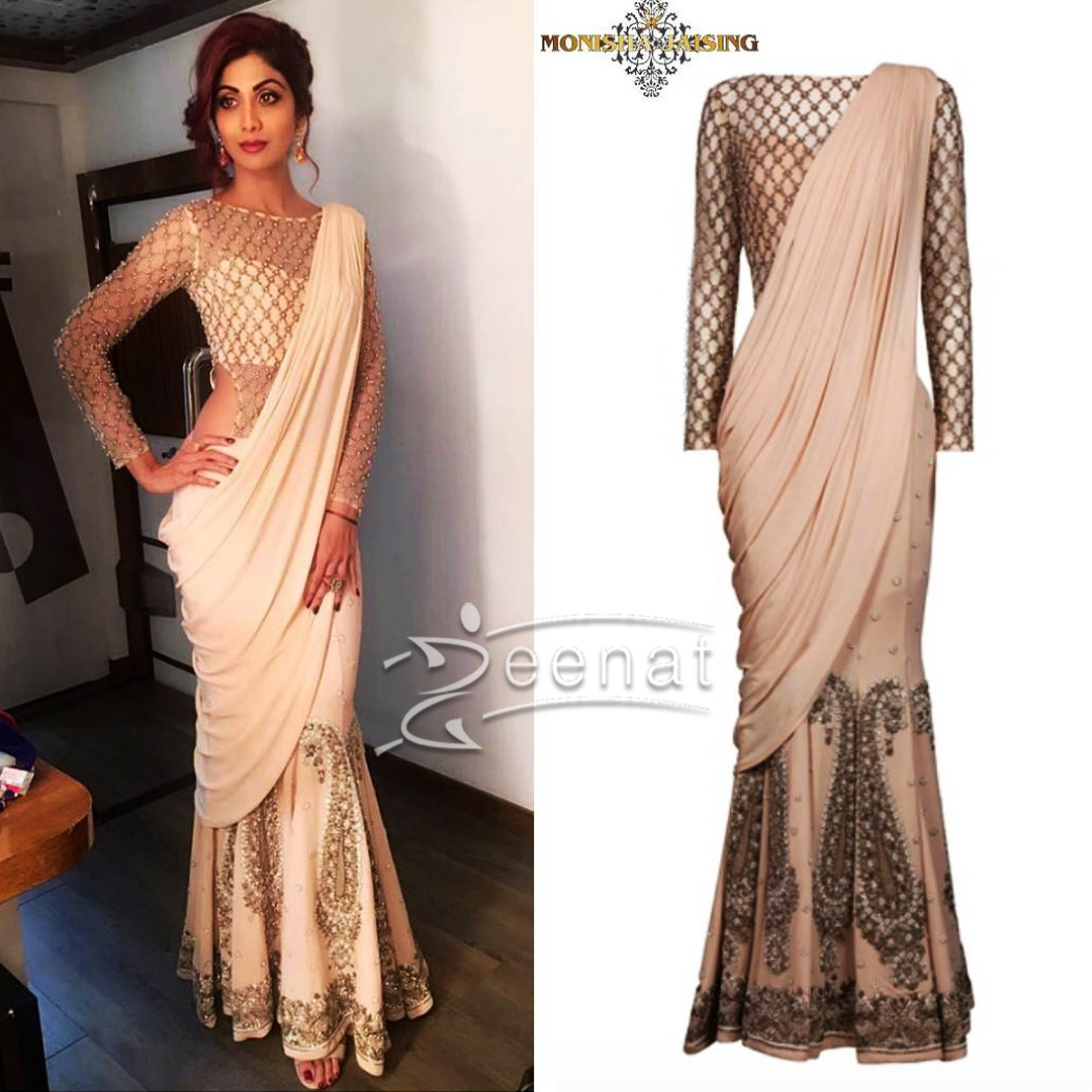 Shilpa Shetty in Monica Jaising Saree