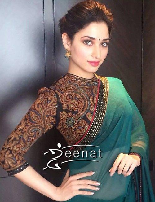 3/4 sleeve saree blouse