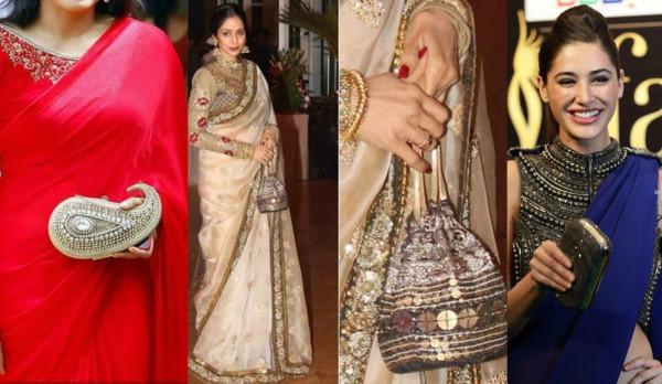 clutch sarees