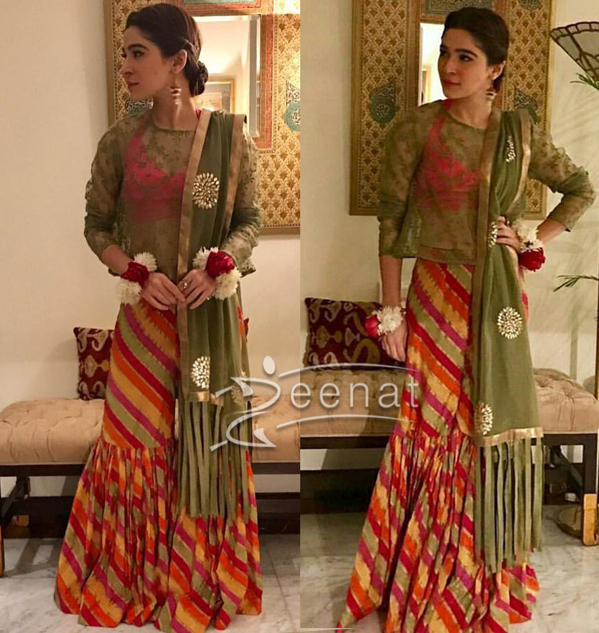 Ayesha Omar in Colorful Gharara from Generation PK