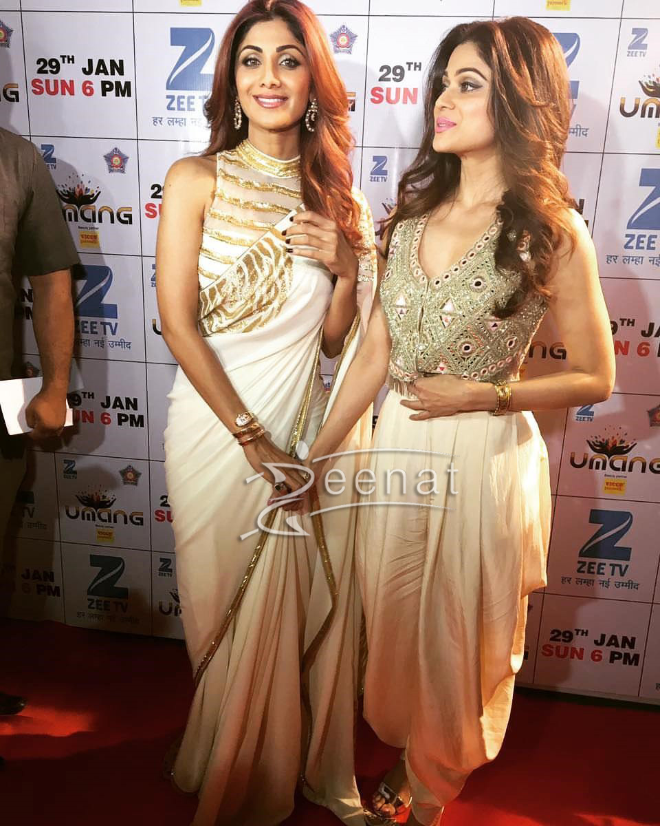 Shilpa Shetty In Mayyur Girotra Saree Umang2017