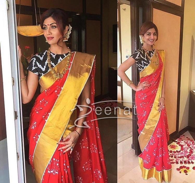 Shilpa Shetty in Masab Gupta Saree