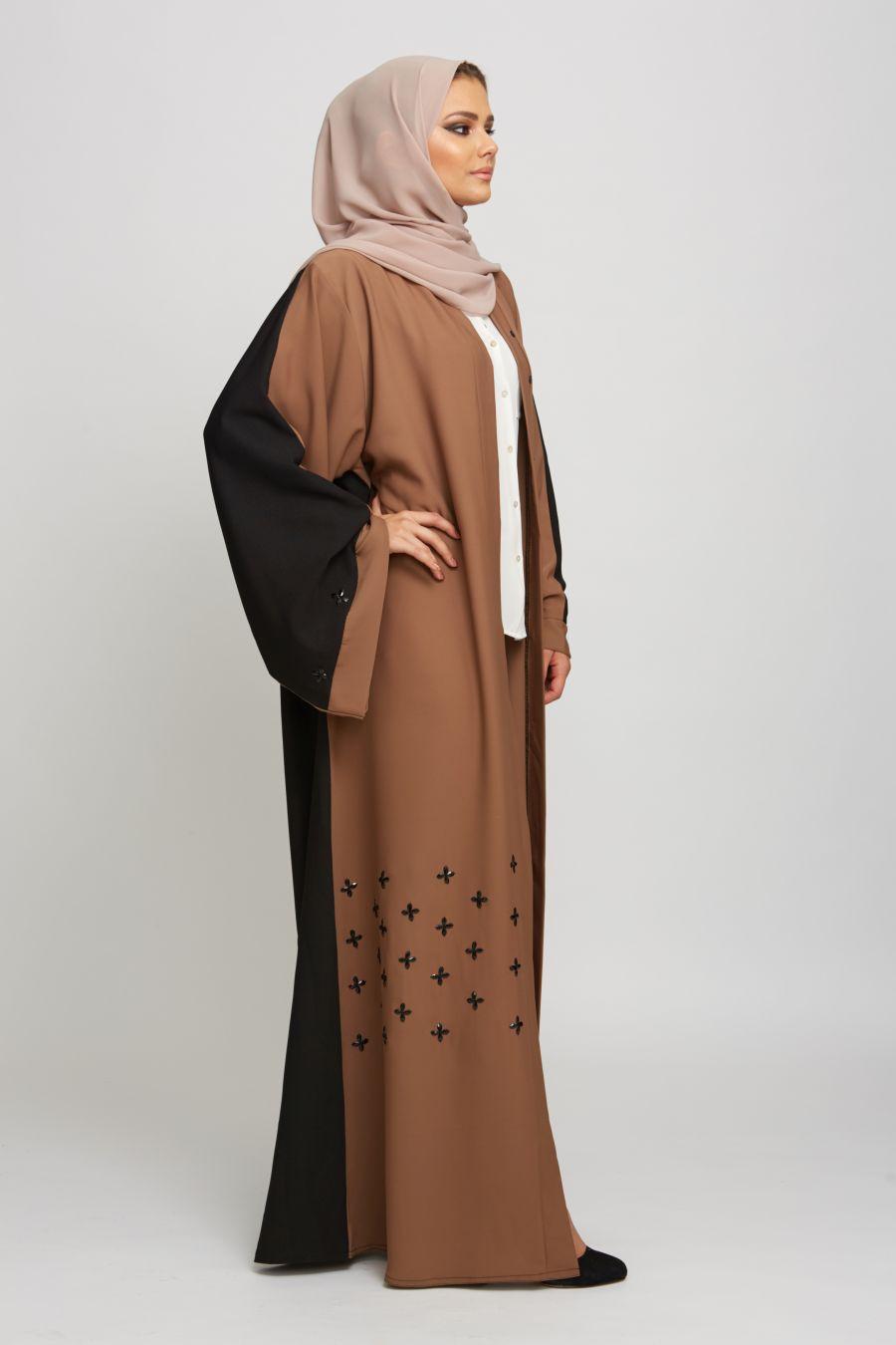 Open Jacket Abaya Style3