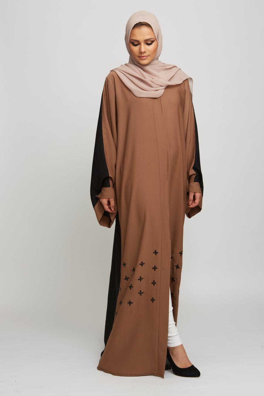 Open Jacket Abaya Style1
