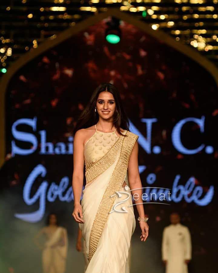 Disha Patani Walks for a Charity Show in Shaina NC Saree