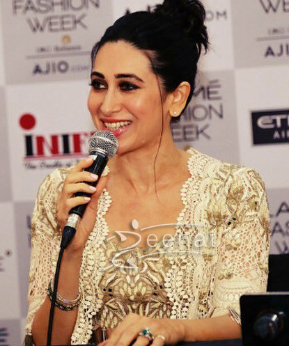 Karisma Kapoor In Arpita Mehta at Lakme Fashion Week 2017