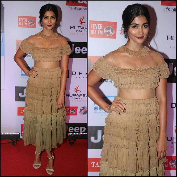 Pooja Hegde at the HT MOST STYLISH AWARDS 2017