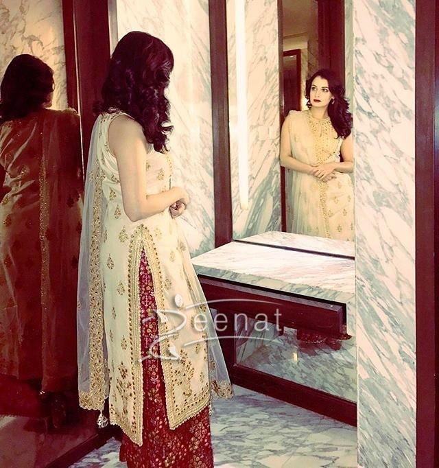 Dia Mirza in Tamanna Punjabi Kapoor Dress