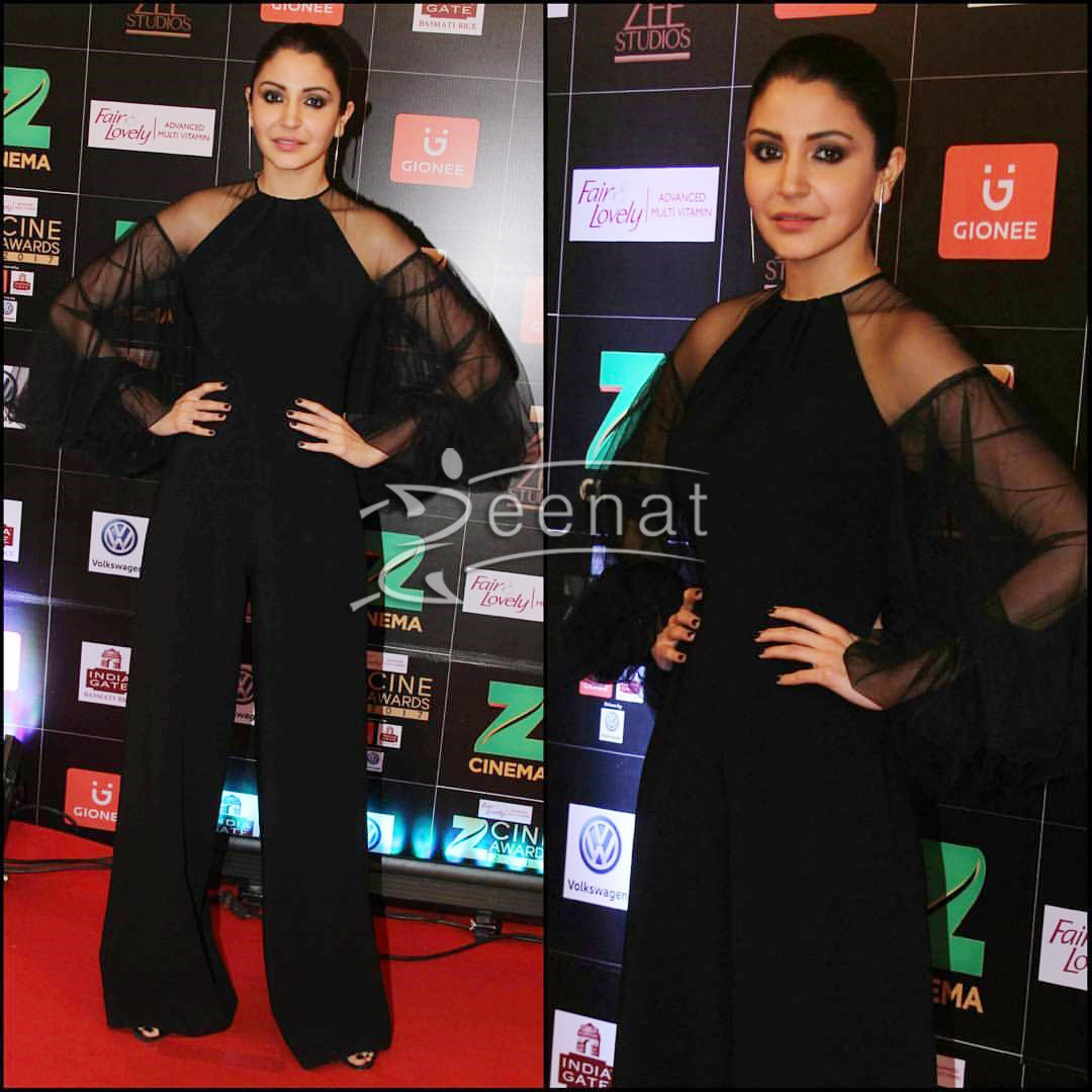 Anushka Sharma in Gauri and Nainika Jumpsuit at Zee Cine Awards 2017