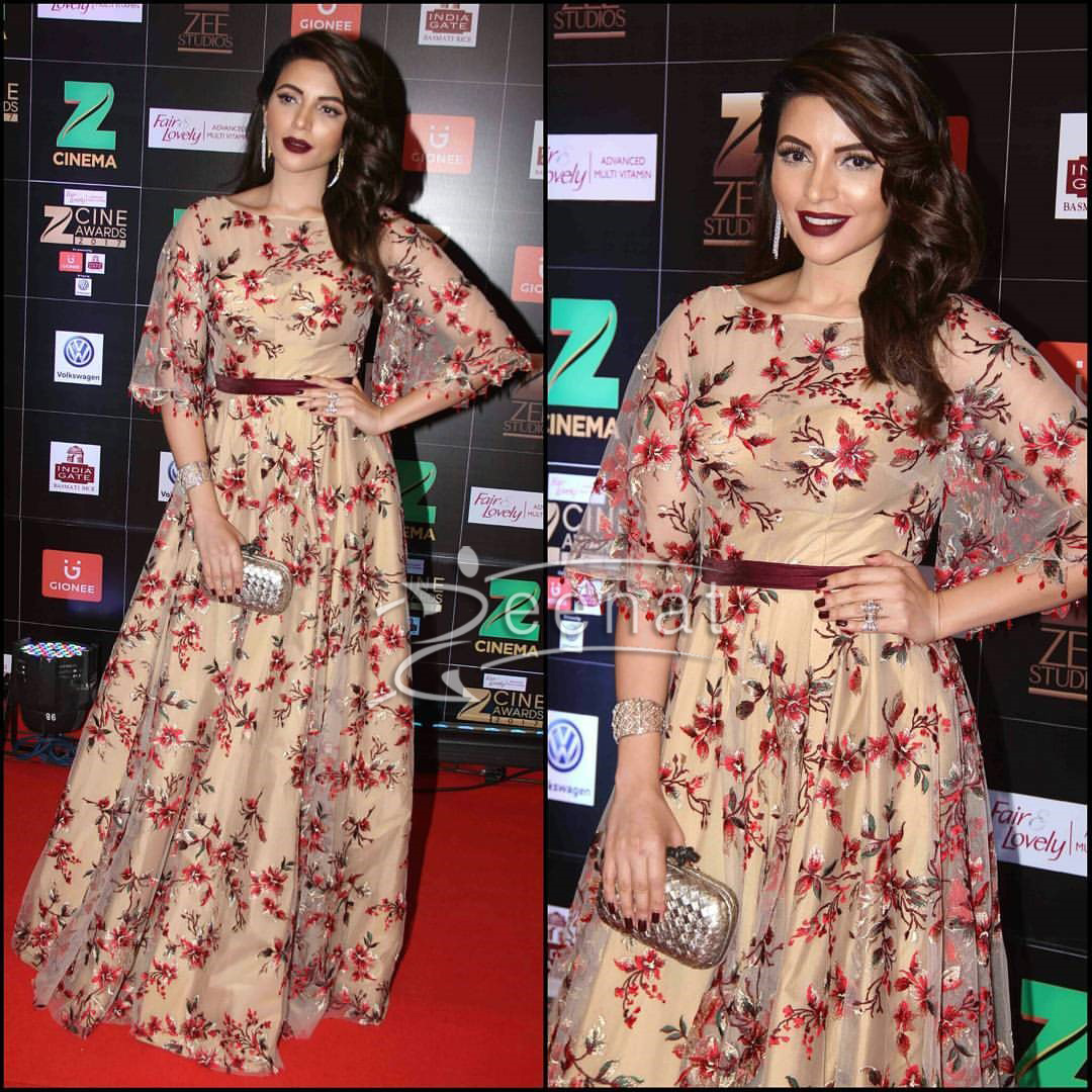 Shama Sikander in Vandana Kumar Gown at Zee Cine Awards 2017
