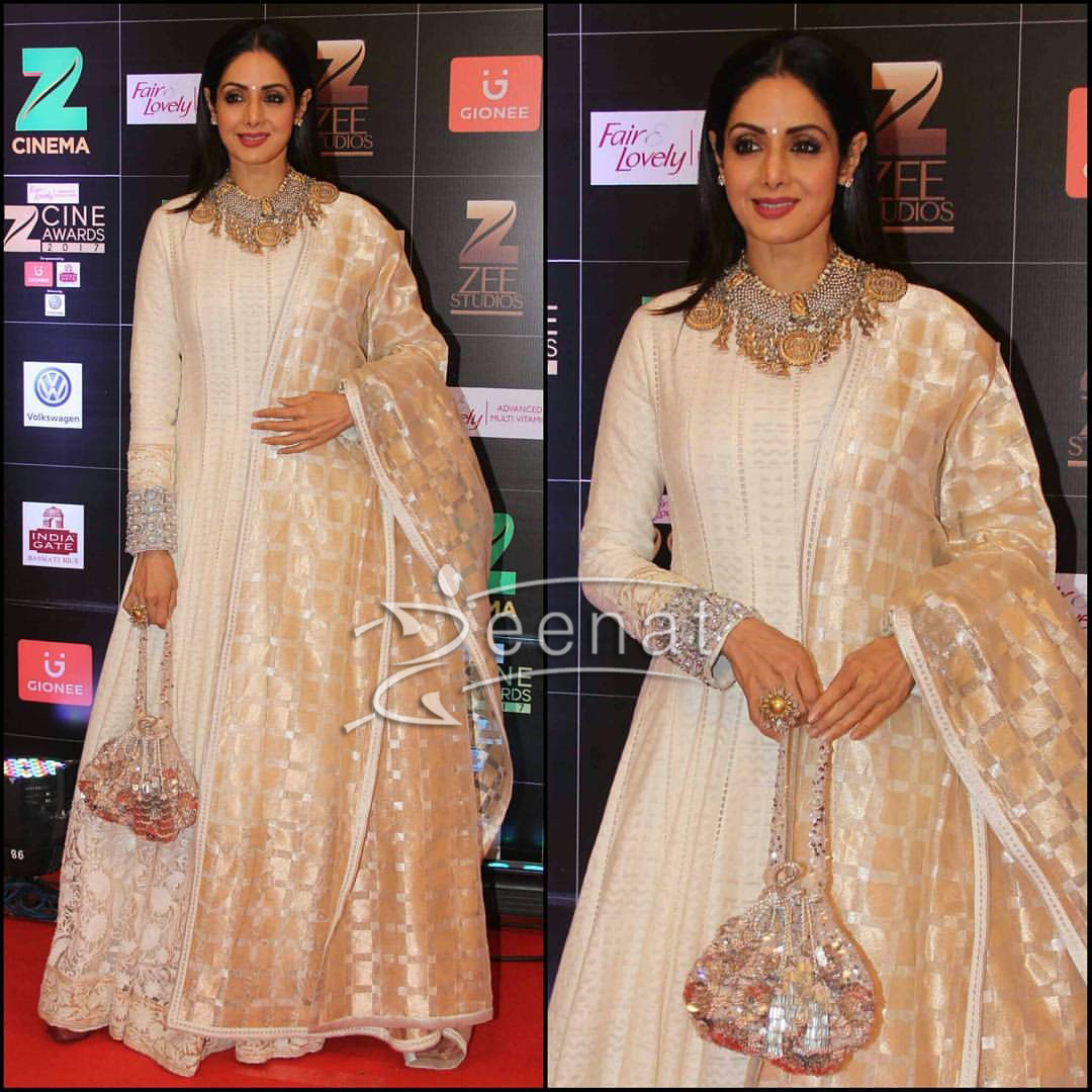 Sri Devi In Manish Malhotra Dress