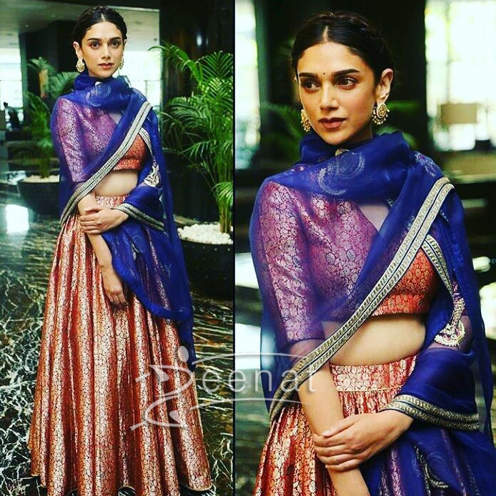 Aditi Rao Hydari in Raw Mango for for Kaatru Veliyidai