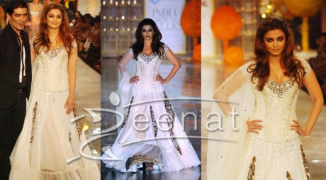 Aishwarya Rai White Lehenga Choli Style