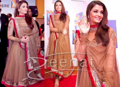 Bollywood Anarkali Churidar on Aishwarya Rai