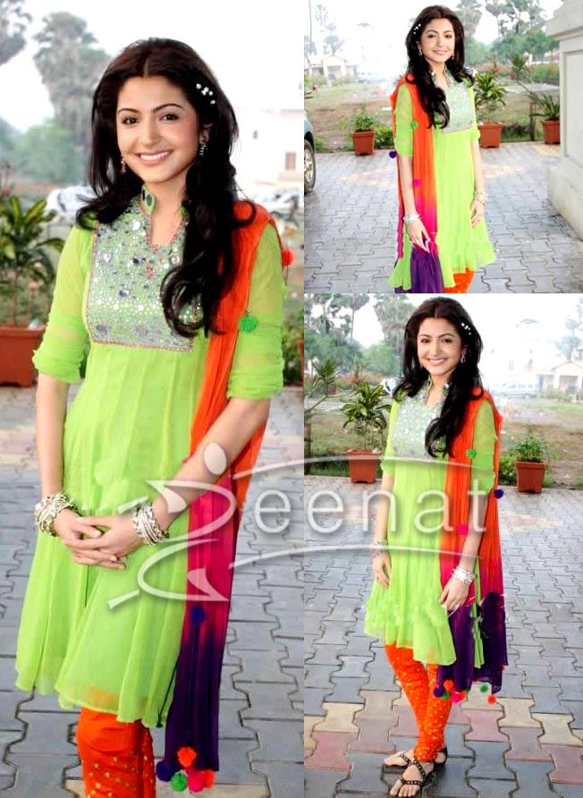 Colorful Salwar Kameez Anushka Sharma