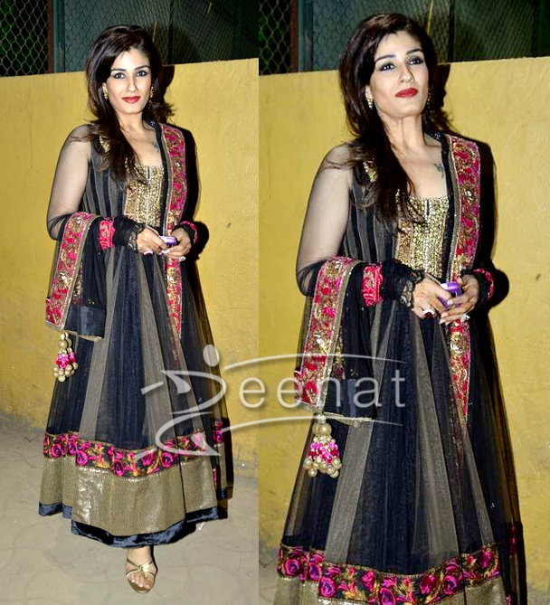 Black Indian Anarkali Salwar Kameez Raveena