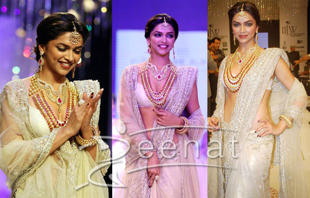 Bollywood Designer Lehenga Saree on Deepika Pudakone