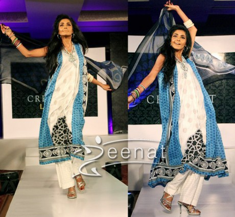 Cresent Lawn A-Line Dresses On Iraj Manzoor