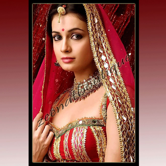 Dia Mirza In Bridal Lehenga Choli