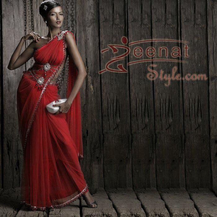 Garima Panami In Indian Red Saree