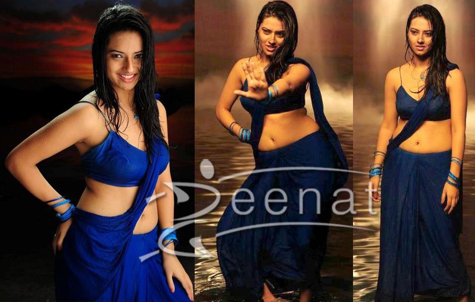 Isha Chawla In Hot Saree Stills