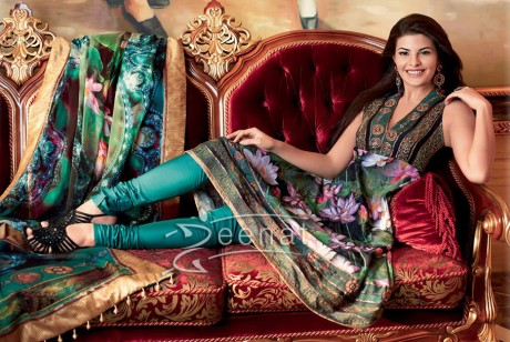 Jacqueline Fernandez Indian Churidar Salwar Kameez