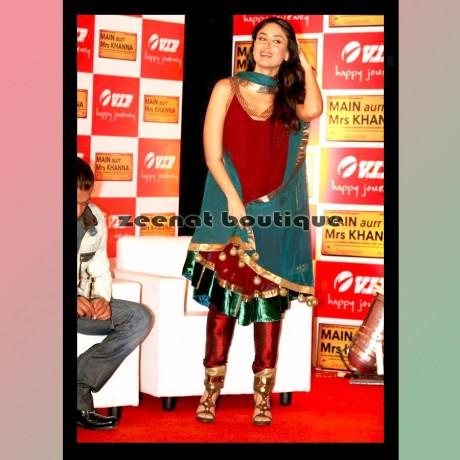 Kareena Kapoor Sleeveless Anarkali Churidar
