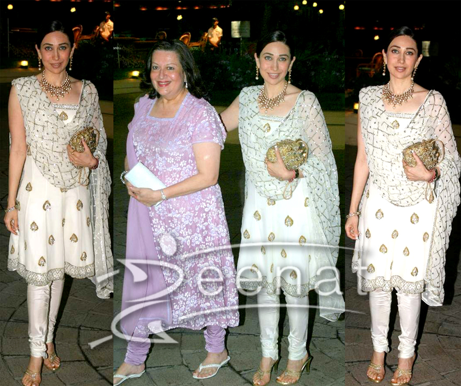 Indian Churida Salwar Kameez on Karisma Kapoor