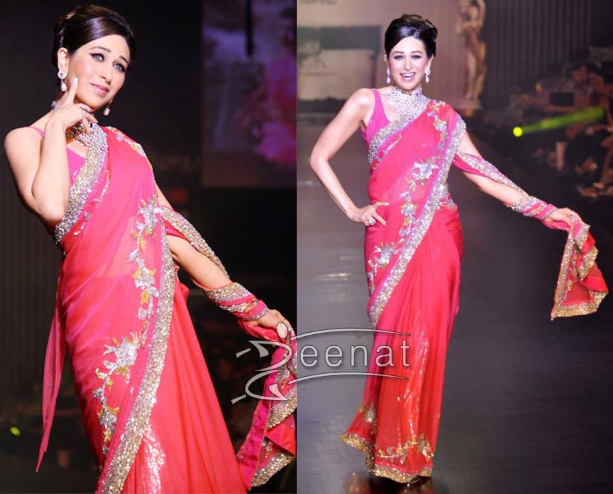 Karisma Designer Pink Saree